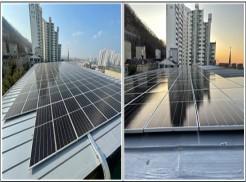 태양광발전기 설치 완료 사진