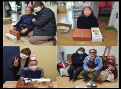 왠쪽 위 사진은 김*자님 생일지원 사진 입니다 오른쪽 위 사진은 이*림님 생일지원 사진입니다 왼쪽 아래 사진은 한*분님 생일지원 사진입니다 오른쪽 아래 사진은 박*백님 생일지원 사진입니다