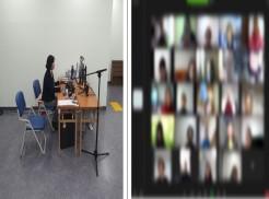 사진1-이원희 강사님이 [활동보조실제] 강의를 하고 있는 모습. 사진2-강사님의 강의를 경청하고 있는 교육생들의 모습.