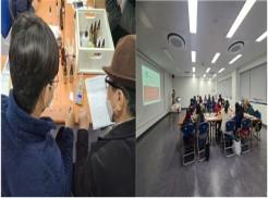 좌: 참여 짝꿍끼리  나만의 향수 만들기를 위한 향 조합을 위한 소통   우: 체험활동을 위한 사전 교육