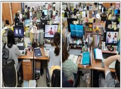 (좌측)온라인 소방안전교육 수강 (우측)온라인 소방안전교육 수강(지역)