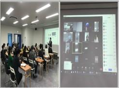 (좌측)교육사진 (우측)화상회의 화면